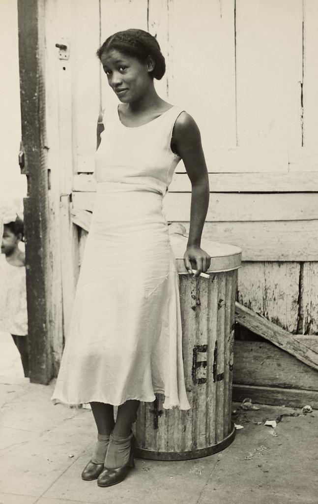 Walker Evans (American, 1903-1975) 'Woman in a Courtyard' 1933