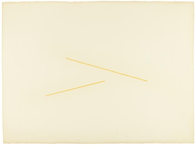 Fred Sandback. 'Untitled (Milanese Drawing)' c. 1971/72