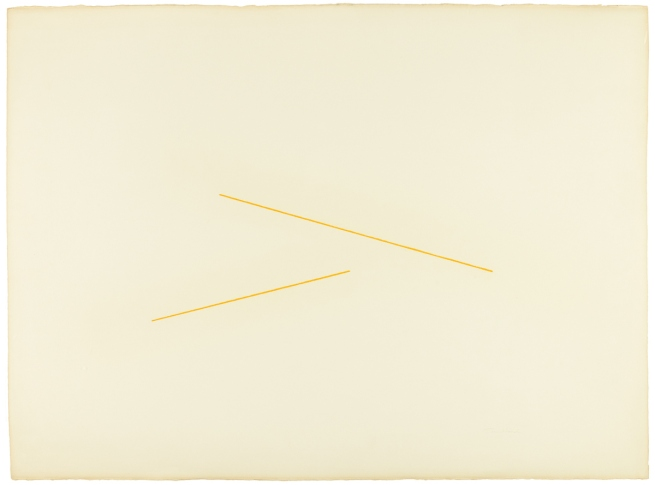 Fred Sandback. 'Untitled (Milanese Drawing)' c. 1971/72