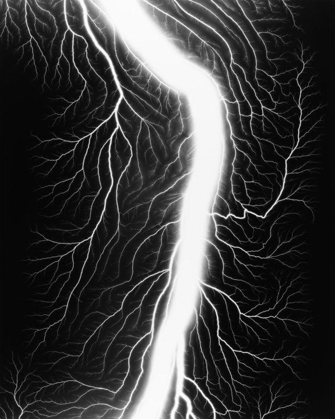 Hiroshi Sugimoto. 'Lightning Fields 236' 2009