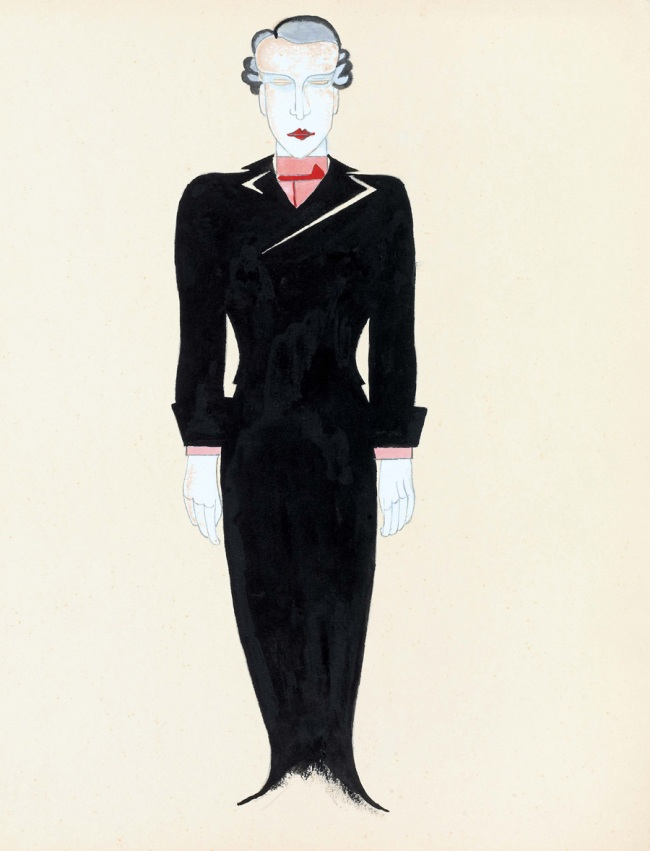 László Moholy-Nagy (Hungarian, 1895-1946) 'Costume Design for Tales of Hoffmann' 1929