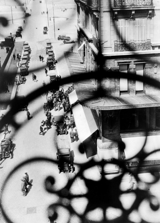 László Moholy-Nagy (Hungarian, 1895-1946) 'La Canebière Street, Marseilles - View Through the Balcony Grille' 1928