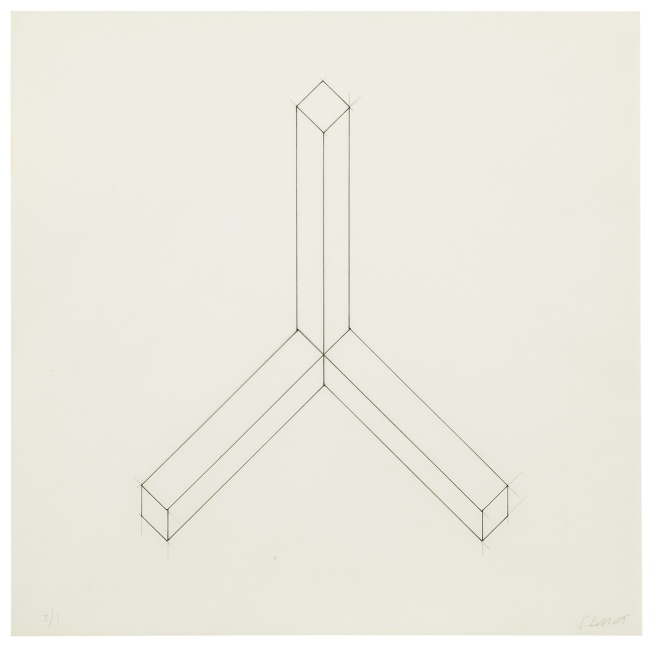 Sol LeWitt. 'Incomplete open cube drawing - ten & eleven part variations' undated (c. 1973/74)