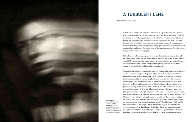 'A Turbulent Lens: The Photographic Art of Virna Haffer' catalogue pages