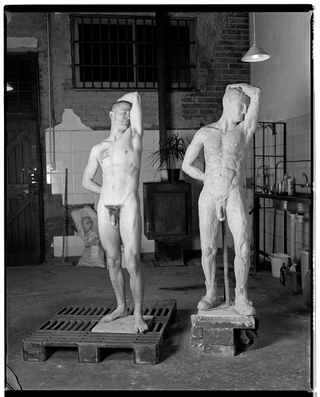 Marcus Bunyan. 'Marcus as The Fool (posing for the sculptor Fredrick White)' 1991-92