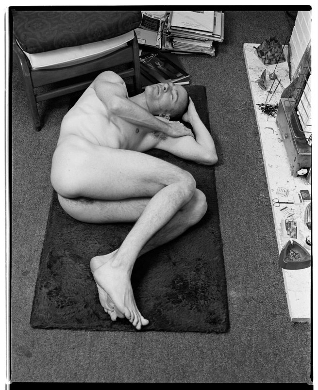 Marcus Bunyan. 'Nude on Floor (with Clifford Last)' 1992