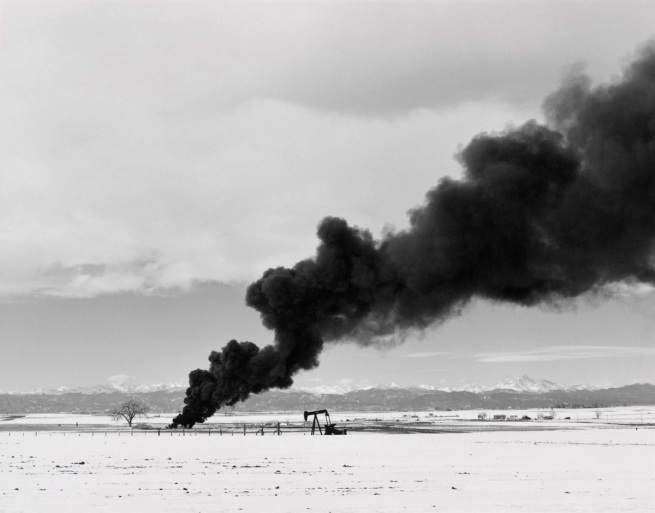 Robert Adams. 'Burning oil sludge, north of Denver, Colorado' 1973-1974