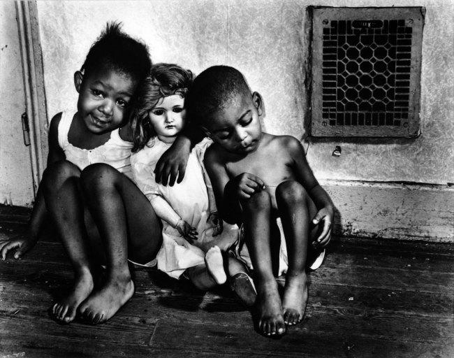 Gordon Parks. 'Children with Doll (Ella Watson's Grandchildren)' 1942