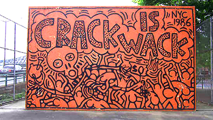 Keith haring crack is wrack art blart for Crack is wack mural