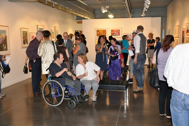 Opening night crowd at 'Movement and Emotion'