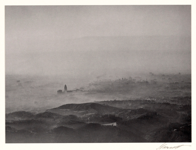 William A. Garnett (American, 1916-2006) 'Smog, Los Angeles' 1949