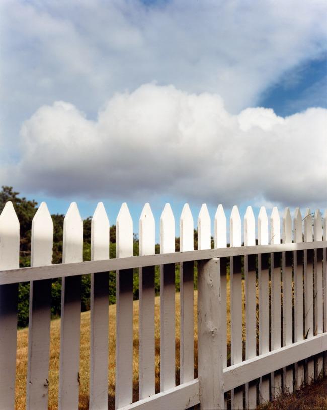 Joel Meyerowitz. 'Fence, Truro' negative 1976; print 1992