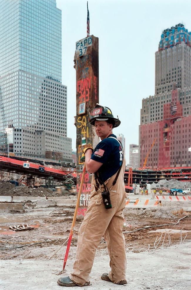 Joel Meyerowitz. 'Fireman at Last Column' 2002