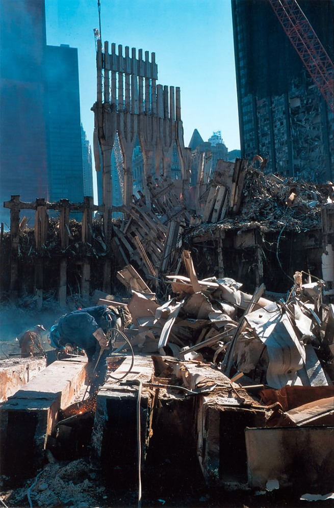 Joel Meyerowitz. 'Welder and Rubble' 2001