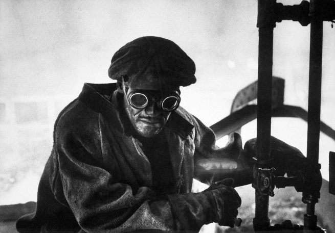 W. Eugene Smith. 'Steel Mill Worker, Pittsburgh' 1955