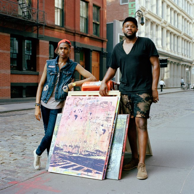 Selina Ou. 'Darren, Model and Carlito, Artist, Soho, New York' 2011