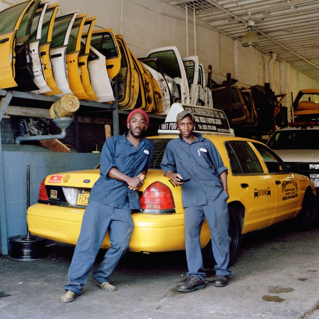 Selina Ou. 'Issa and Lamine, Taxi Mechanics, Upper West Side, New York' 2011