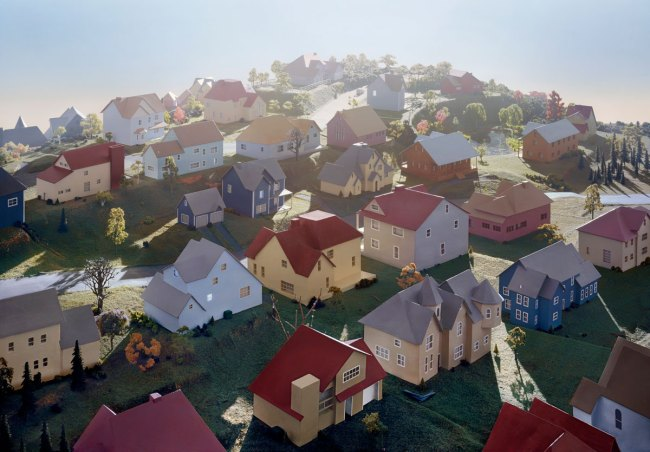 James Casebere (American, born 1953). 'Landscape with Houses (Dutchess County, NY) #1' 2009
