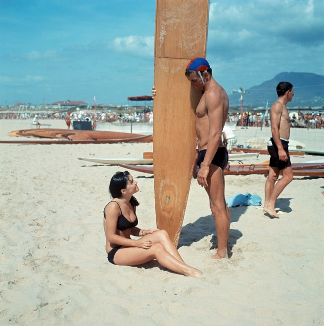 Anon. 'Surfer and bikini girl on the sand' 1969 National Archives of Australia