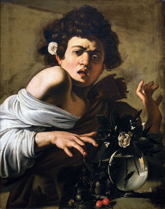 Caravaggio. 'Boy Bitten by a Lizard' 1594–96