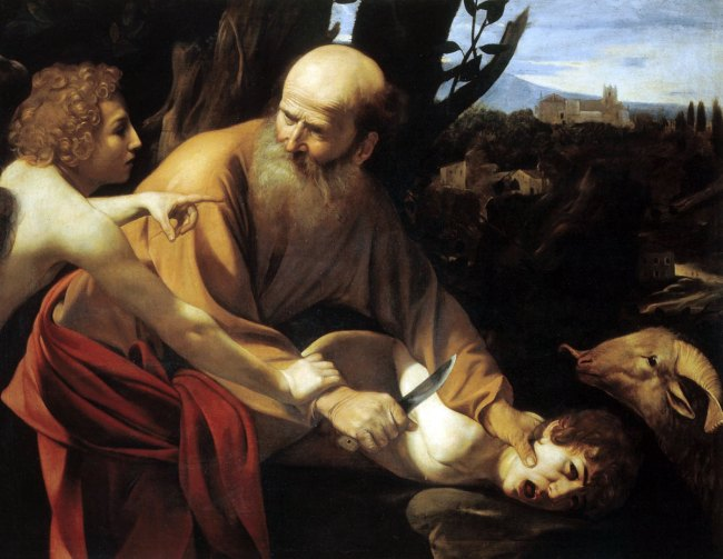 Caravaggio. 'Sacrifice of Isaac' 1602–3