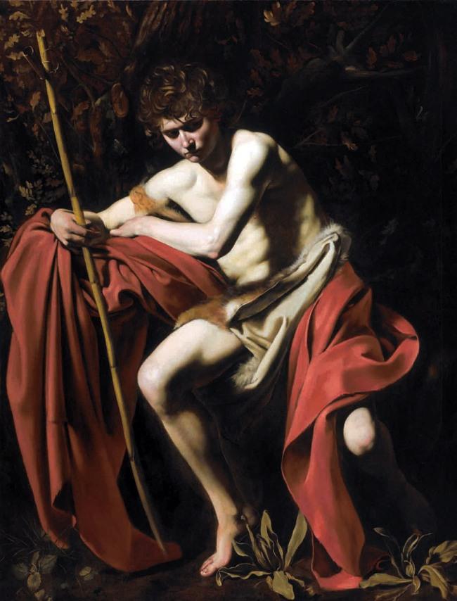 Caravaggio. 'Saint John the Baptist in the Wilderness' 1604