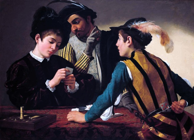 Caravaggio. 'The Cardsharps' c. 1595