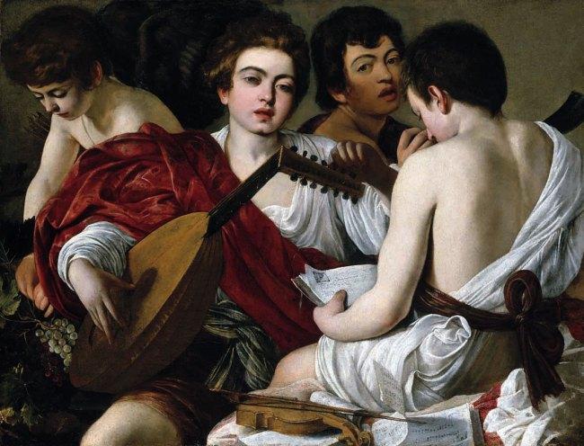 Caravaggio. 'The Musicians' c. 1595