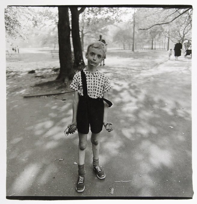 Diane Arbus, 'Child with a toy hand grenade in Central Park, N.Y.C. 1962' 1962