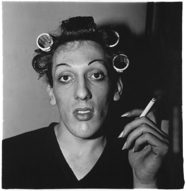 Diane Arbus. 'A young man in curlers at home on West 20th Street, N.Y.C. 1966' 1966
