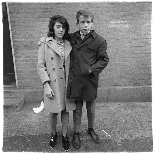 Diane Arbus. 'Teenage couple on Hudson Street, N.Y.C. 1963' 1963