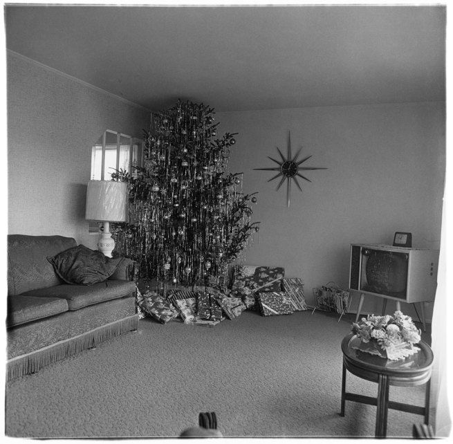 Diane Arbus. 'Xmas tree in a living room in Levittown, L.I. 1963' 1963