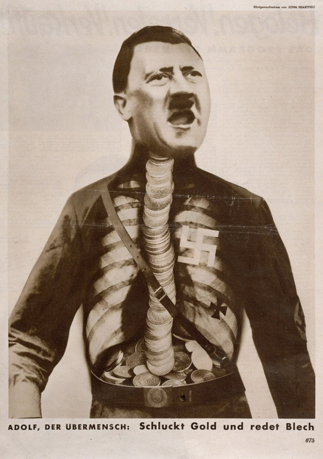 John Heartfield. 'Adolf, the superman: swallows gold and spouts rubbish' from the 'Workers Illustrated Paper', vol 11, no 29, 17 July 1932, p. 675