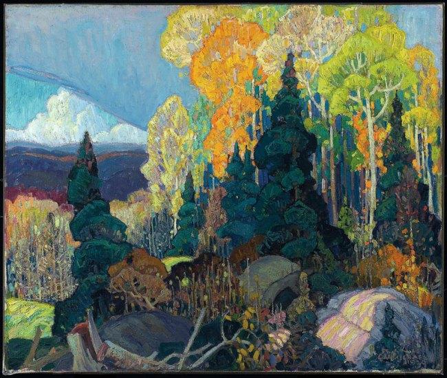Franklin Carmichael. 'Autumn Hillside' 1920