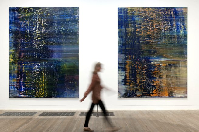 Gerhard Richter. 'Forest (3)' and 'Forest (4)' 1990