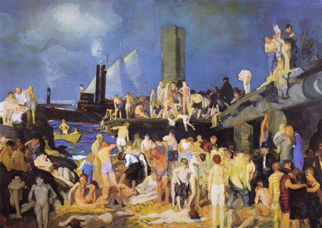 George Wesley Bellows (American, 1882-1925) 'Riverfront No.1' 1915