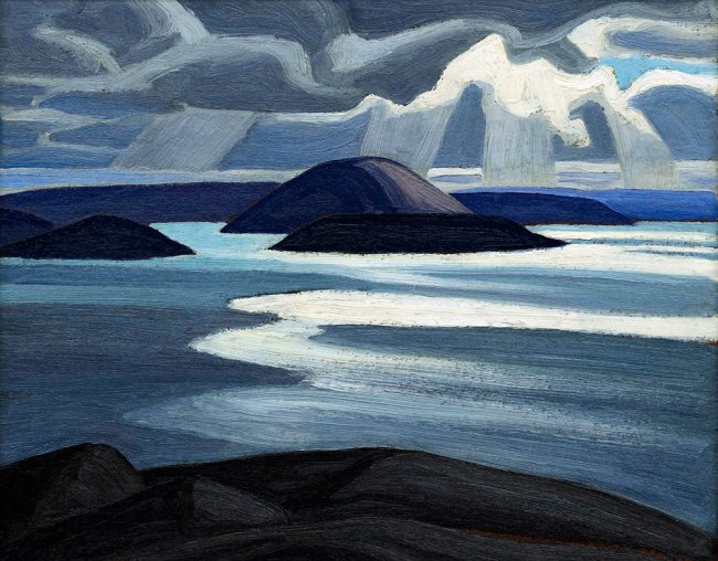Lawren Harris(Canadian, 1885-1970) 'Lake Superior,Sketch XLVII' c. 1923