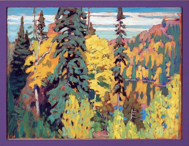 Lawren Harris. 'Trees and Pool' c. 1920