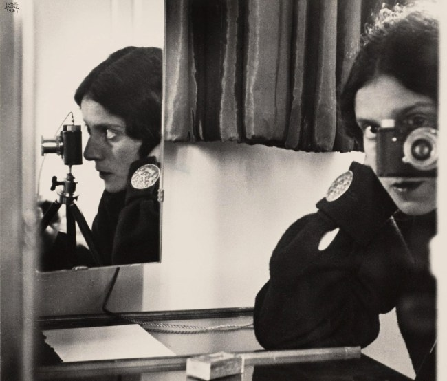 Ilse Bing (United States of America, Germany 1899-1998) 'Self portrait with Leica' 1931 printed 1941