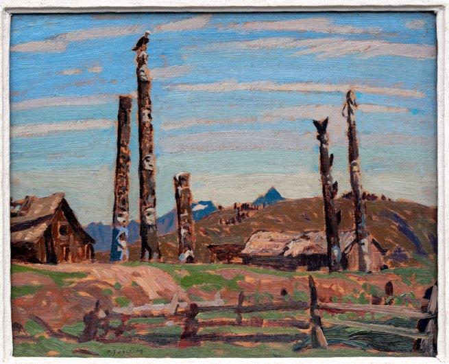 A. Y. Jackson. 'Totem Poles, Kitwanga' 1926