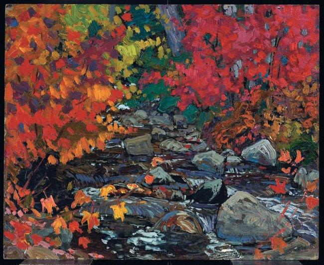 J.E.H. MacDonald. 'Autumn Leaves, Batchewana Woods, Algoma' c. 1919