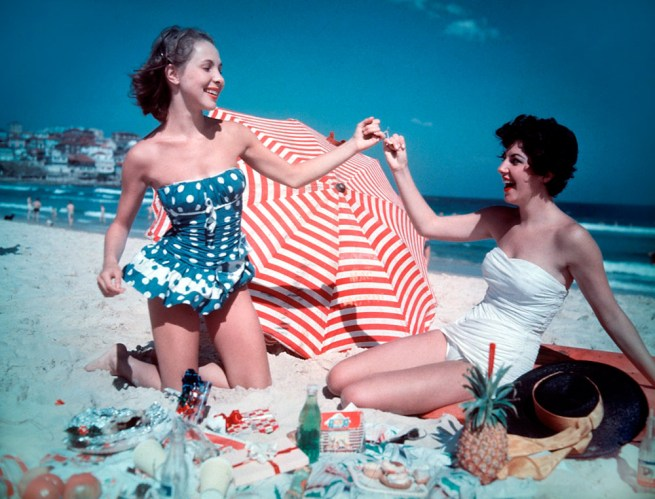 Anon. 'Christmas party on Bondi Beach, Sydney' 1959 National Archives of Australia