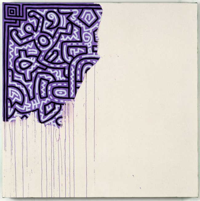 Keith Haring (American, 1958-1990). 'Unfinished Painting' 1989