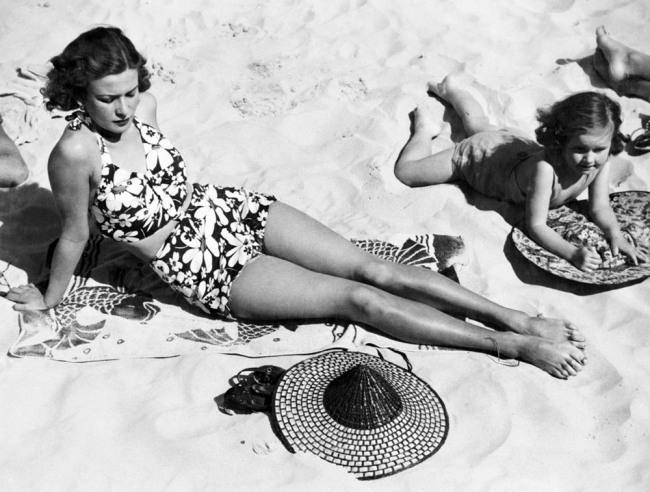 Anon. 'Sunbathing, Sydney Beach, NSW' c.1955 National Archives of Australia