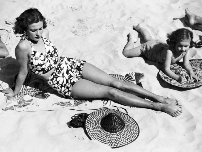 Anon. 'Sunbathing, Sydney Beach, NSW' c.1955 National Archives of Australia