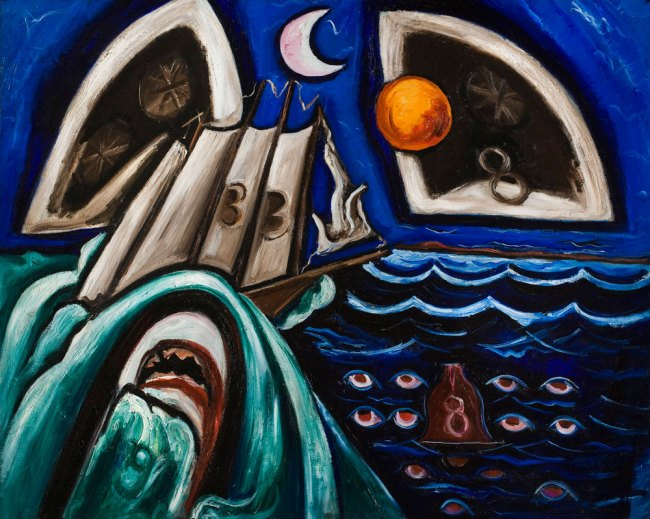 Marsden Hartley (American, 1877-1943) 'Eight Bells Folly: Memorial to Hart Crane' 1933