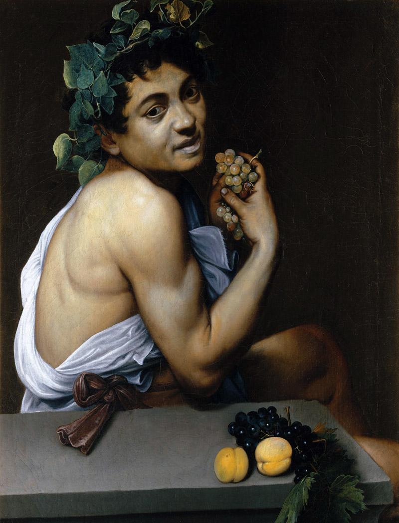 Michelangelo Merisi da Caravaggio.. Sick Bacchus 1593-94 Oil on canvas Galleria Borghese, Rome