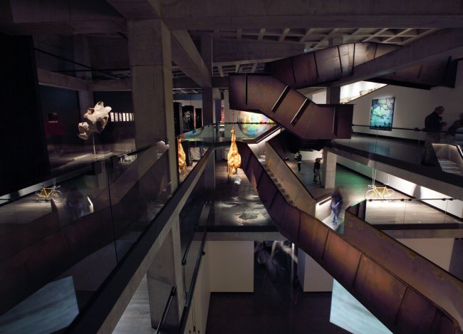 Corten Stairwell & Surrounding Artworks February 2011 Museum of Old and New Art – interior
