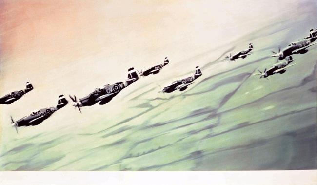 Gerhard Richter. 'Mustang Squadron' 1964