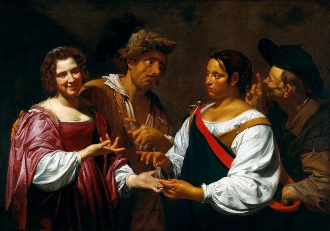 Simon Vouet. 'The Fortune Teller' c. 1620